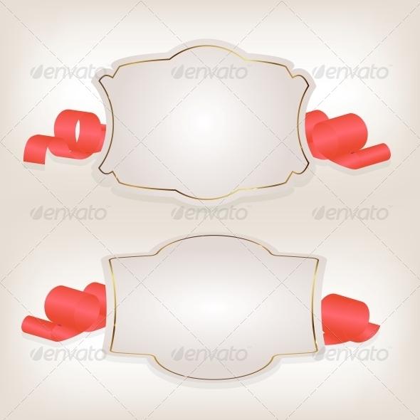 GraphicRiver Romantic Label with Ribbon Vector Illustration 3874785