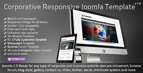 ThemeForest Corporative Responsive Joomla Template 3874893
