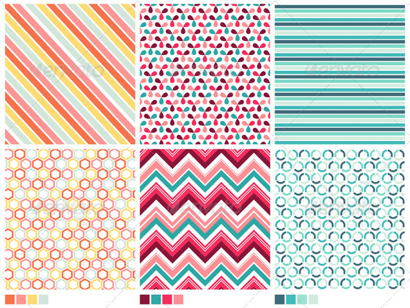 GraphicRiver Geometric Seamless Patterns 3875107