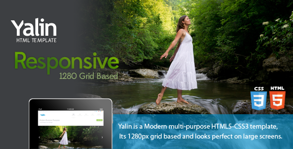 ThemeForest Yalin Responsive Modern Business Template 3721267
