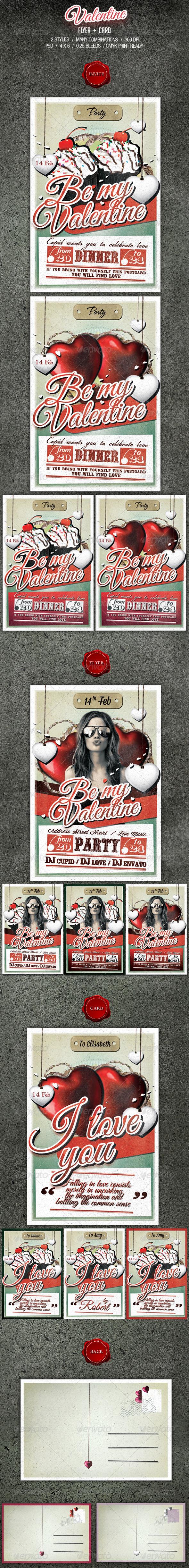 GraphicRiver Valentine Flyer & Card 3767585