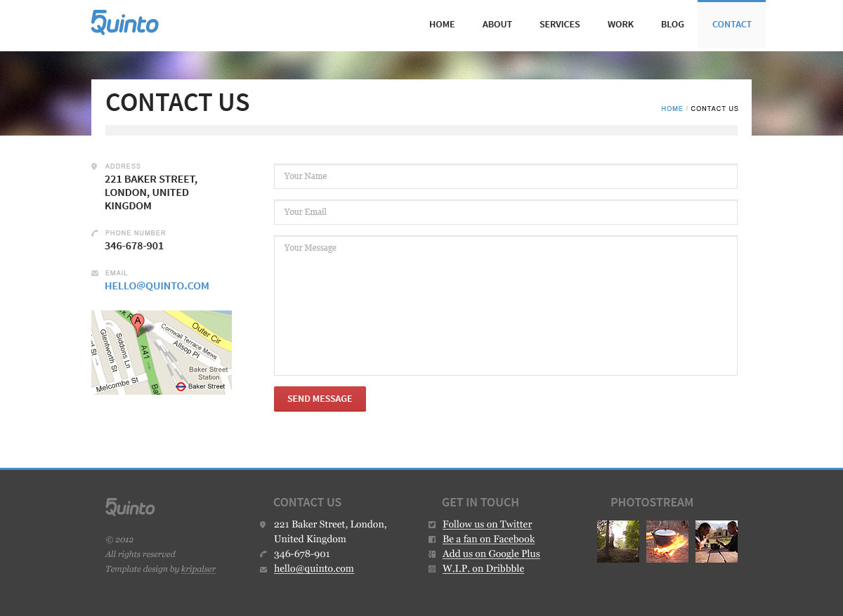 Quinto PSD Template