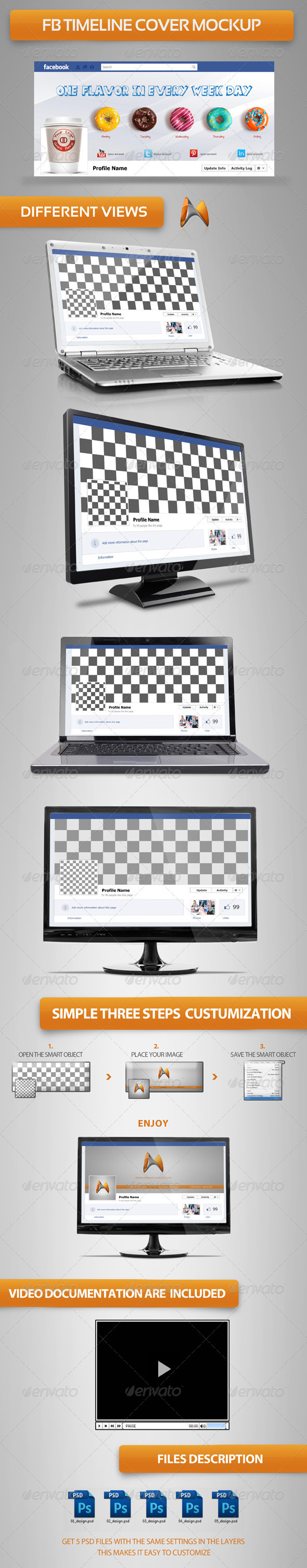 FB Timeline Cover Mock-up - Miscellaneous Graphics
