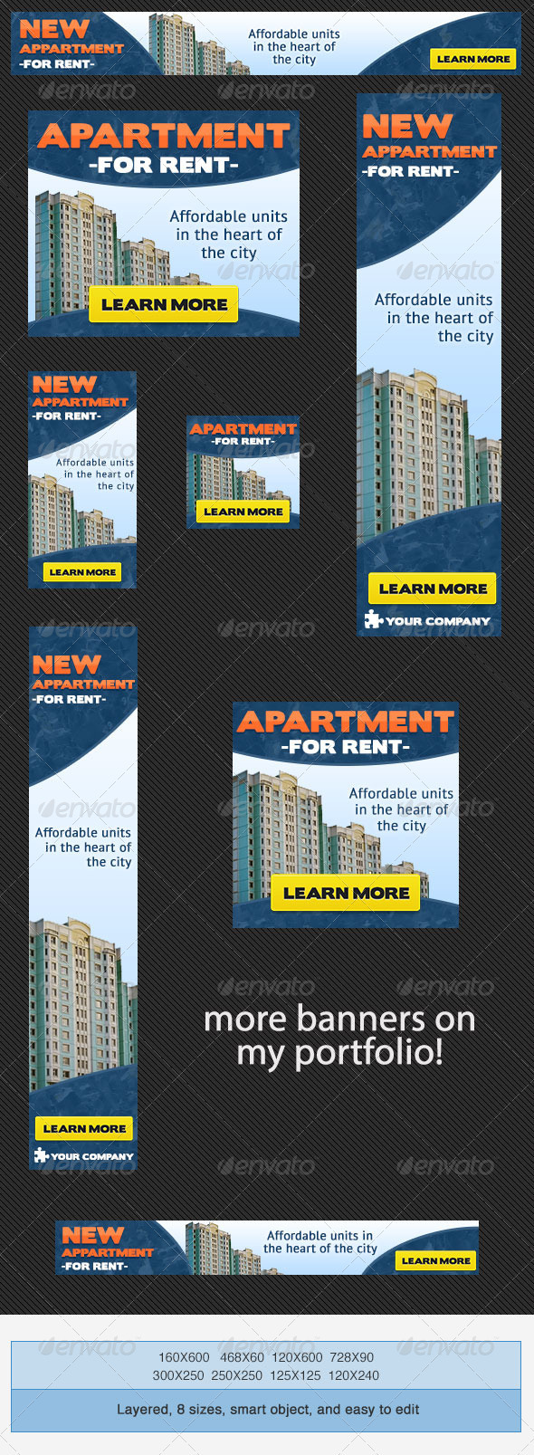 Real Estate Apartment Banner Ad - Banners & Ads Web Elements