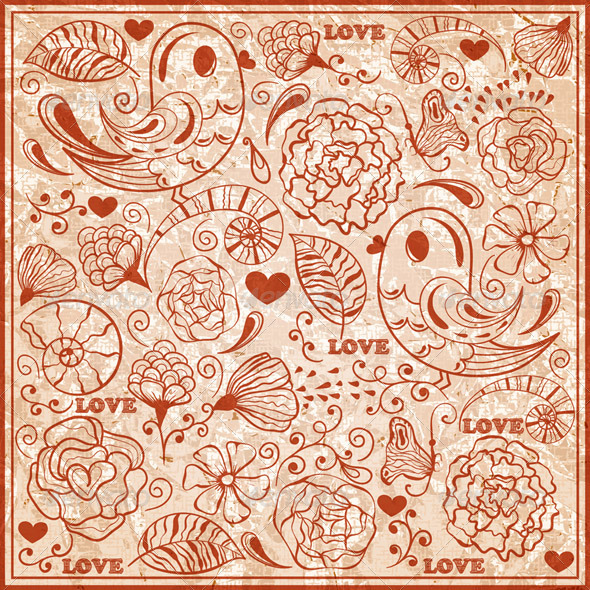 GraphicRiver Vector Valentine s Day Pattern 3876167