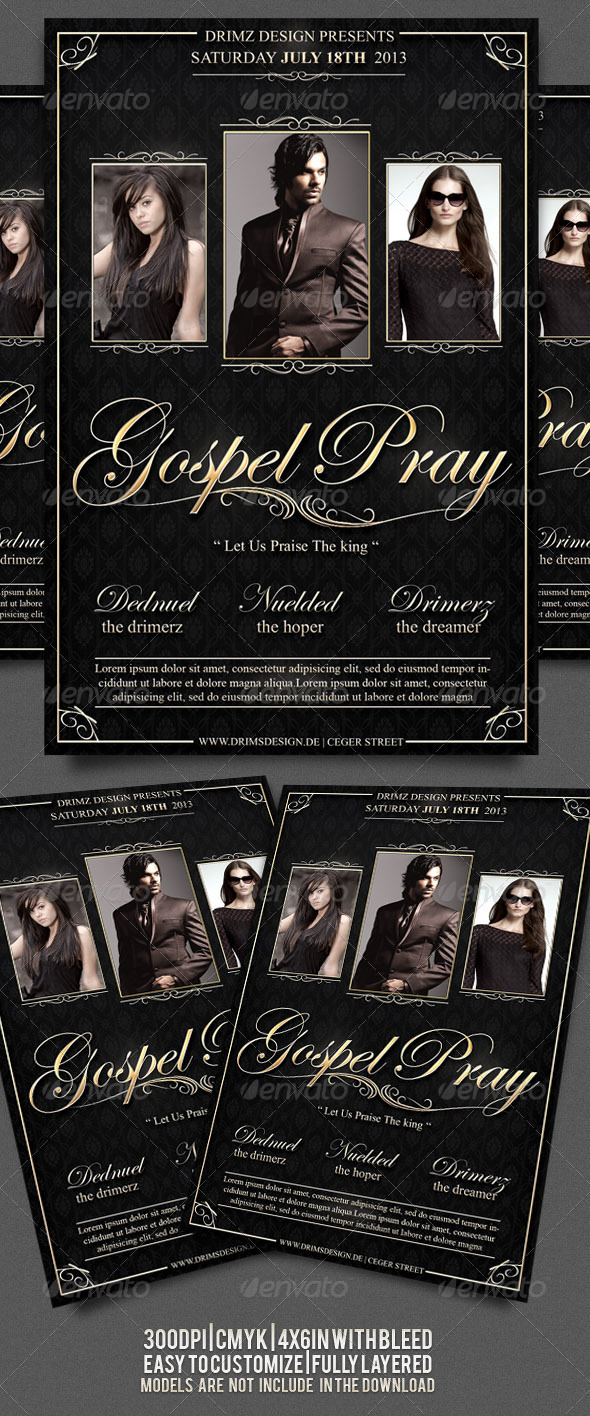 GraphicRiver Gospel Flyer 3876180