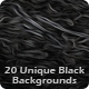 20 Unique Black Backgrounds Pack - GraphicRiver Item for Sale