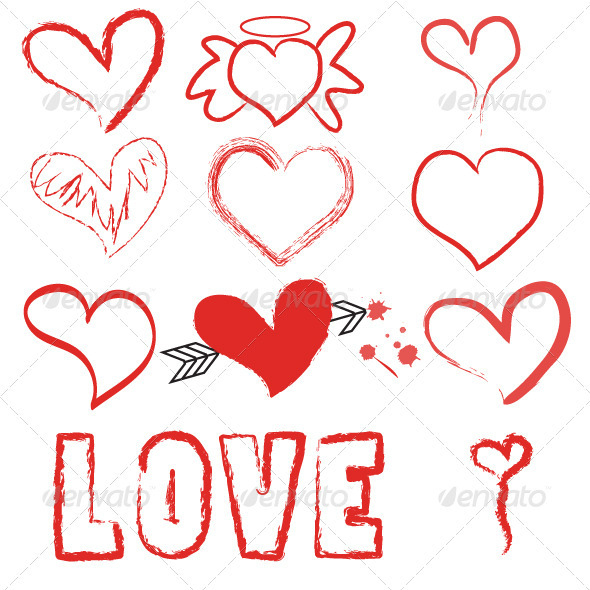 GraphicRiver Valentine Vector Set 3876530