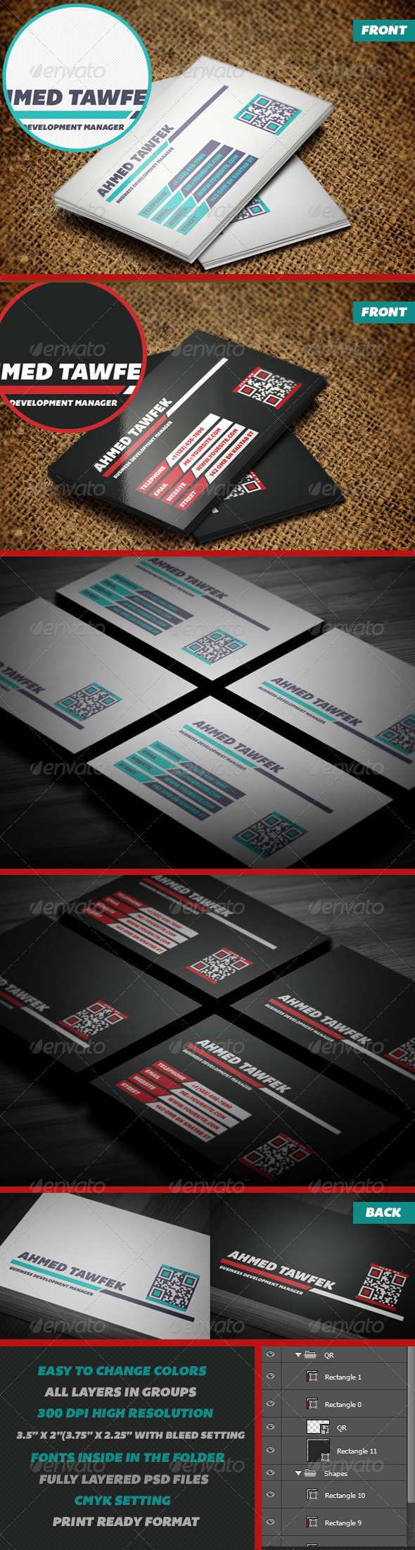 GraphicRiver 10 Creative Business Card 3876543