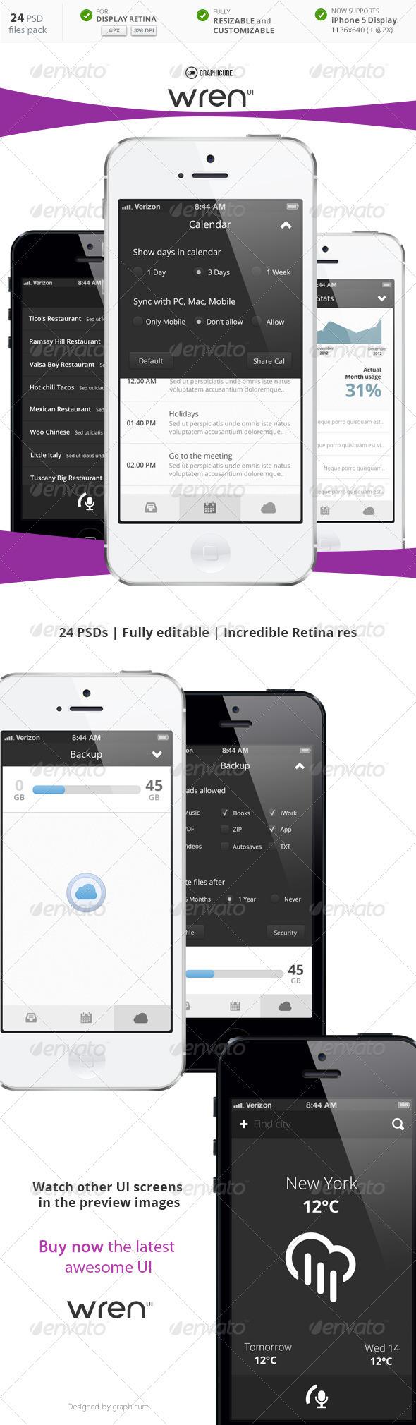 GraphicRiver Phone UI Wren 3795189