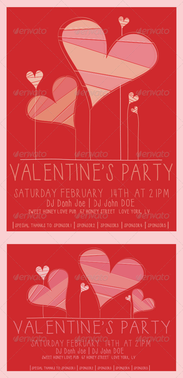 GraphicRiver Valentines Flyer Template 3781571