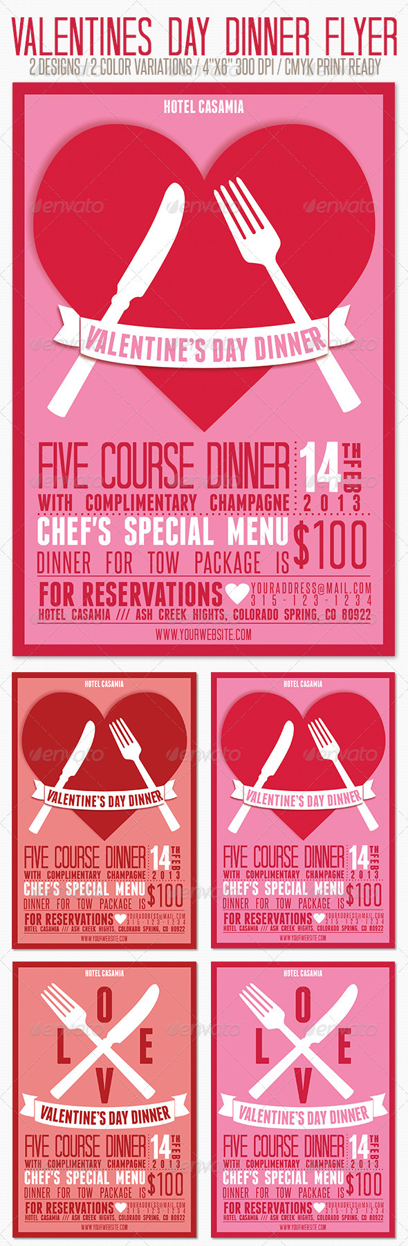 GraphicRiver Valentines Day Dinner Party Flyer 3746079
