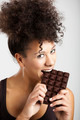 Woman eating chcolate - PhotoDune Item for Sale
