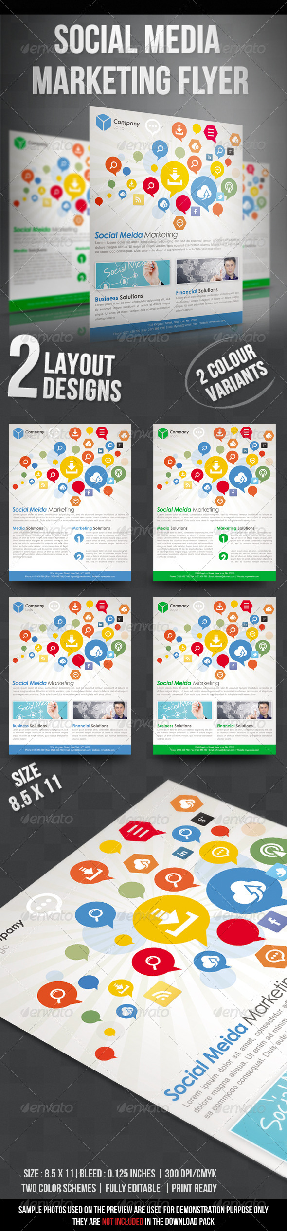 GraphicRiver Social Media Marketing Flyer 3795020
