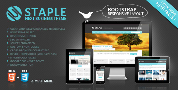 Staple - Bootstrap Responsive Web Template