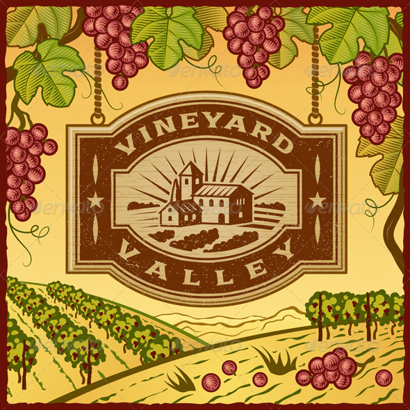 GraphicRiver Vineyard Valley 3879208