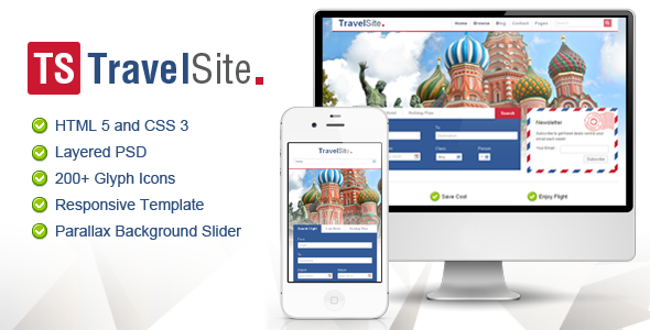 TravelSite - Responsive HTML Template