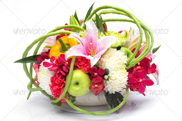 PhotoDune Bouquet of fruit and flower 3883318