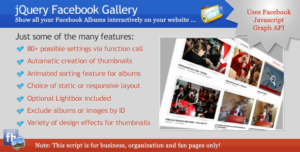 CodeCanyon jQuery Facebook Gallery 3879813
