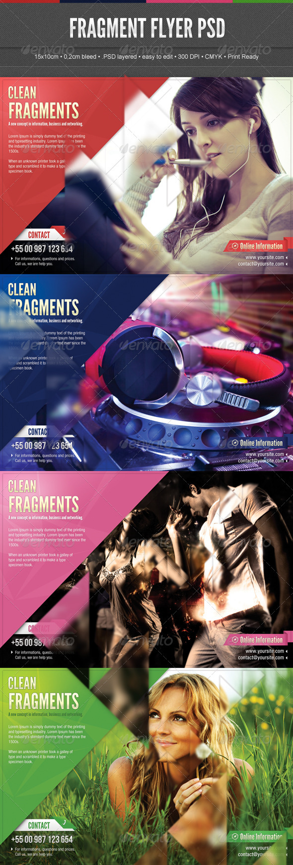 GraphicRiver Fragment Flyer 3797689