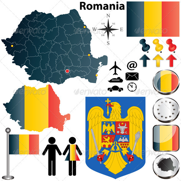 GraphicRiver Romania map 3879982