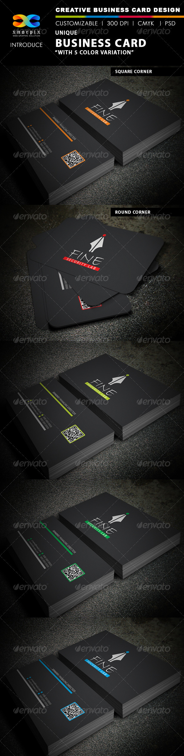 GraphicRiver Unique Business Card 3881901