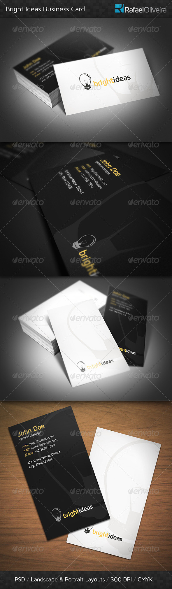 GraphicRiver Bright Ideas Business Card 3882014