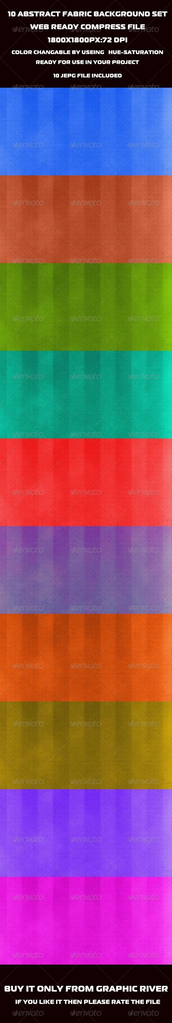 Abstract Fabric Background Set. - Miscellaneous Backgrounds