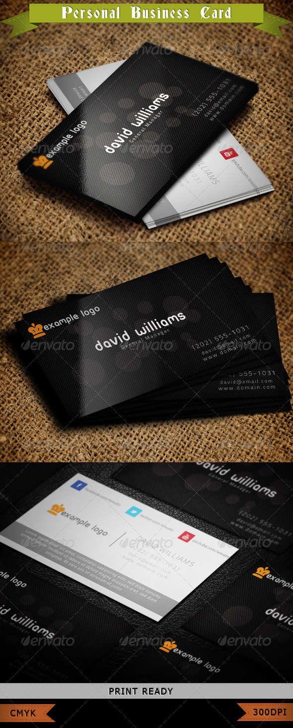 GraphicRiver Personal Business Card 3790158