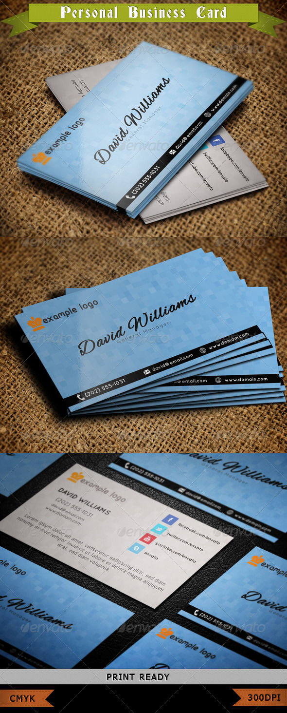 GraphicRiver Personal Business Card 3882745