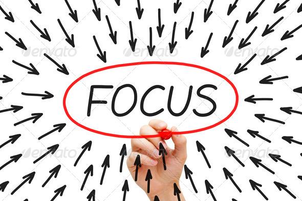 Focus Concept  - Stock Photo - Images