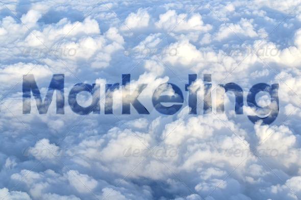 PhotoDune Marketing on sky 3883522