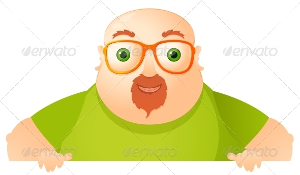 GraphicRiver Cheerful Chubby Man 3882954