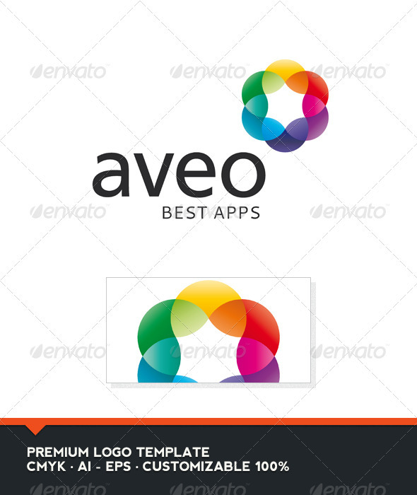 GraphicRiver Aveo Abstract Colorful Logo Template 3882978