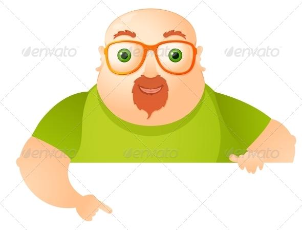 GraphicRiver Cheerful Chubby Man 3883026