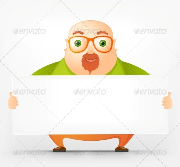 GraphicRiver Cheerful Chubby Man 3883029