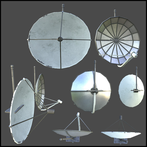 3DOcean Satellite Dishes 3883034