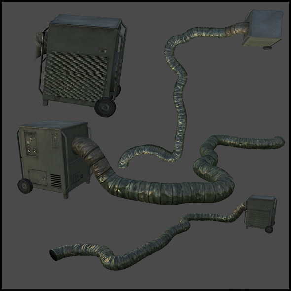 Military Mobile Air Conditioner - 3DOcean Item for Sale