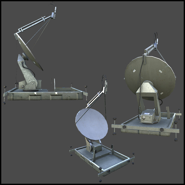 Military Satellite Dish - 3DOcean Item for Sale
