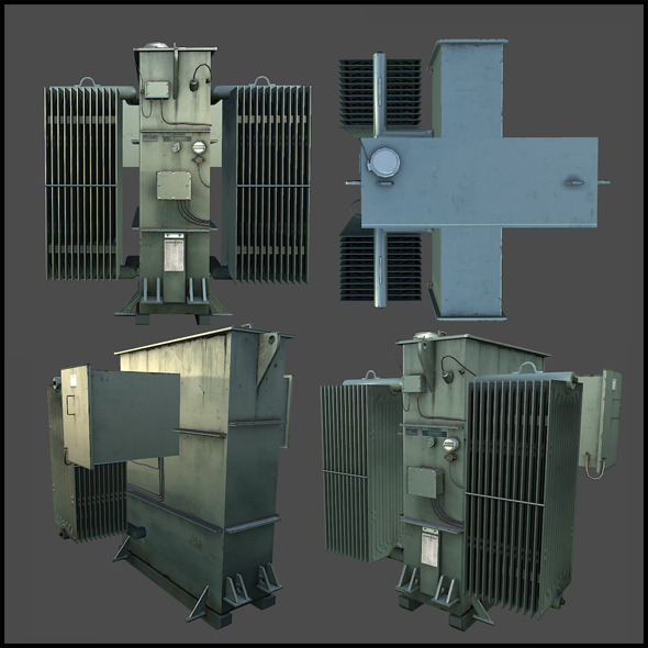 Electrical Transformer - 3DOcean Item for Sale