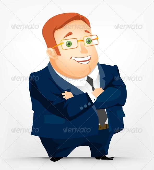 GraphicRiver Cheerful Chubby Man 3883216