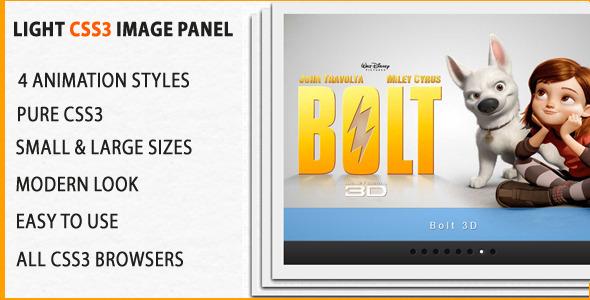 CodeCanyon Light Css3 Image Slideshow Panel 3883237