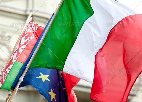 PhotoDune Italian flag waving 3883274