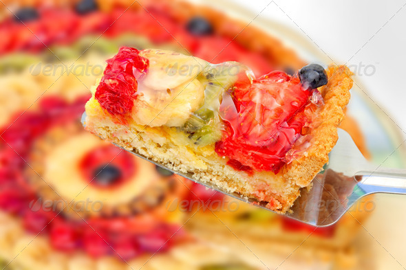 PhotoDune Shortbread with Cream With Fruit Jelly 3883279