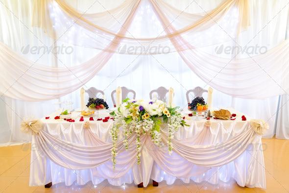 PhotoDune wedding banquet table 3883682