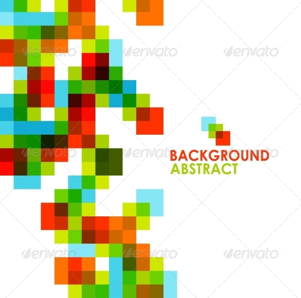 GraphicRiver Pixelated Abstract Background 3883732