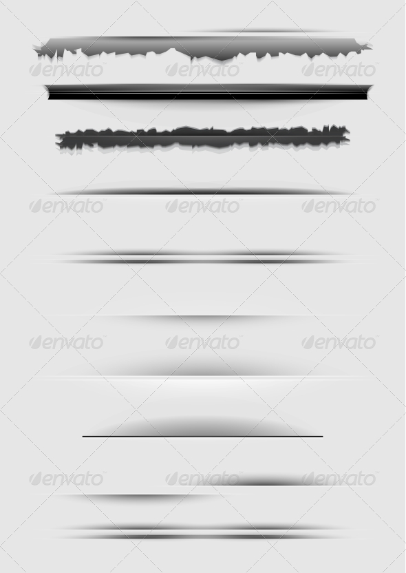 GraphicRiver Vector Set of Abstract Dividers Isolated on Gray 3883746
