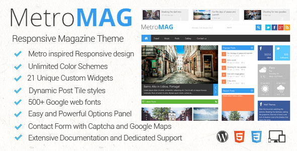 ThemeForest Metro Magazine Responsive WordPress Theme 3834138