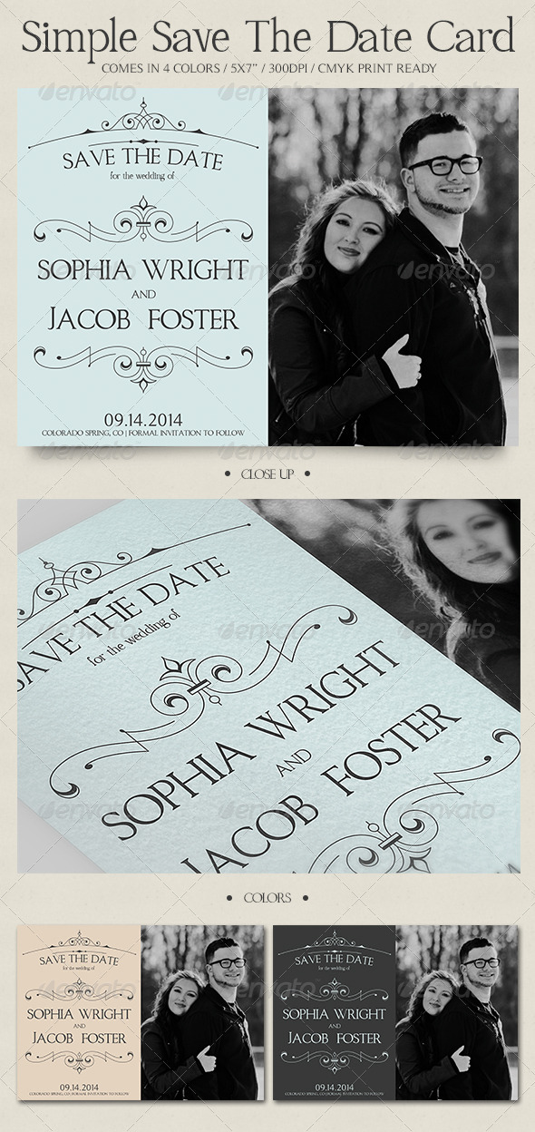 Picture Save The Date Card  - Invitations Cards & Invites