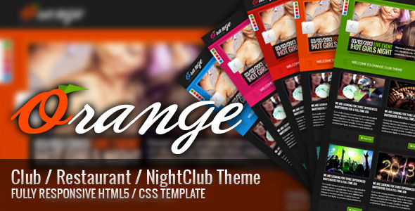 ThemeForest Orange Responsive HTML Club Restaurant Theme 3831289